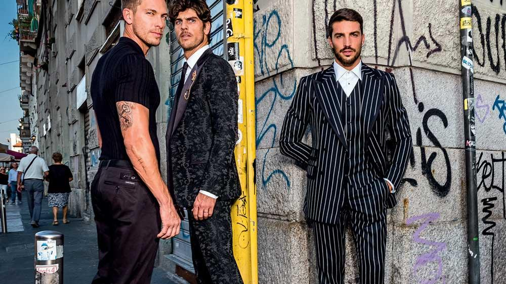 cee77634 Bold Italian style from the design duo that is Dolce & Gabbana, their  menswear collections are known for immaculate tailoring, cool off-duty  options and the ...