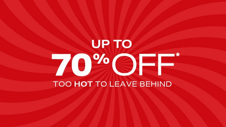 Up To 70% Off*