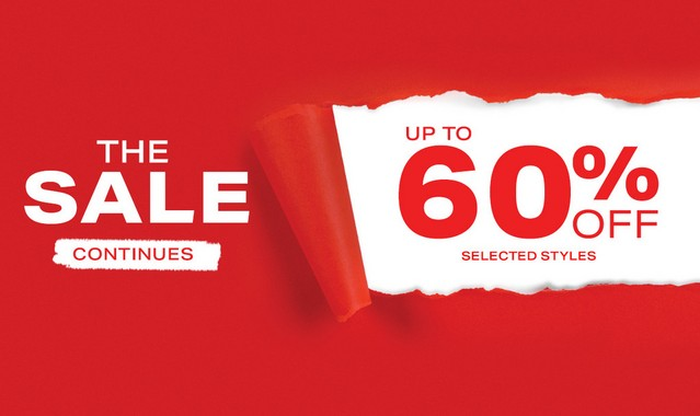 up to 60% off selected lines