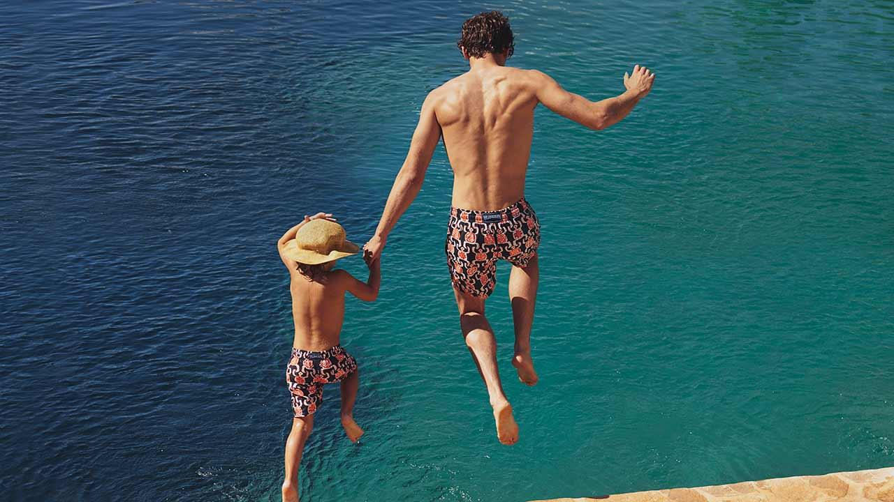 0461be9f41 Vilebrequin create swim shorts for men and boys in the coolest styles that  are sure to be loved by both father and son.