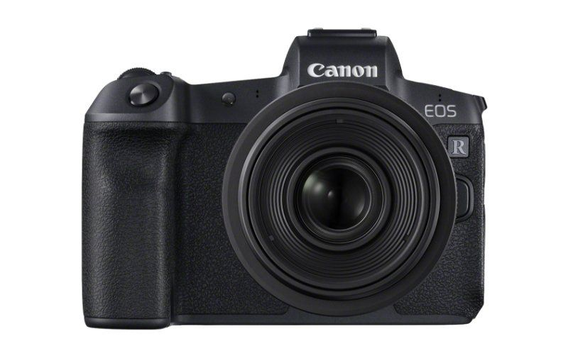 EOS R the front