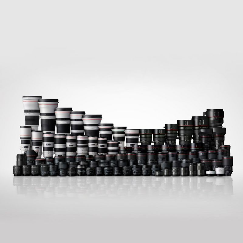 Large range of Canon EF lenses
