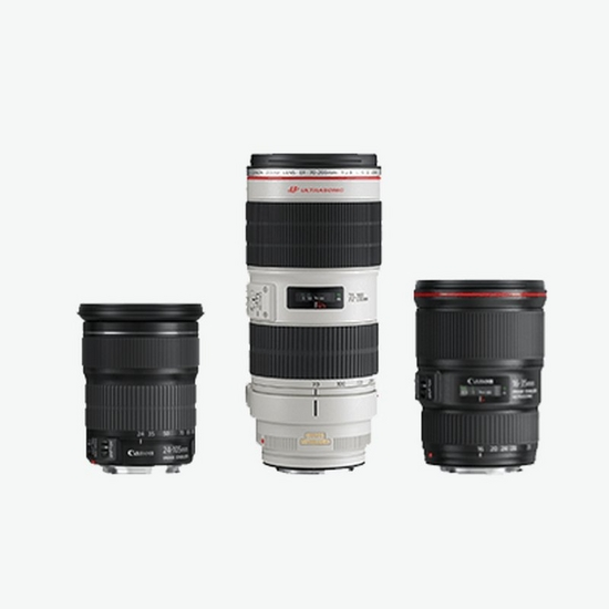 Image of 3 popular Canon lenses