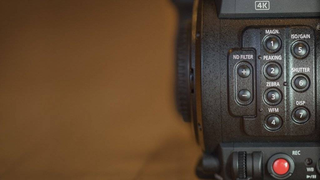 C200 video camera button controls.