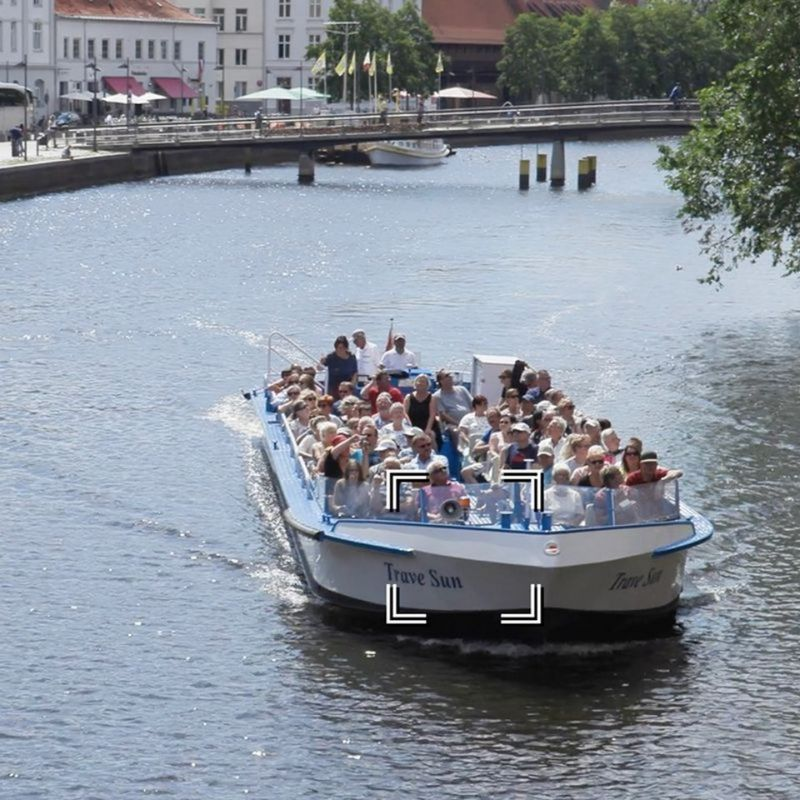 Picture of a group of people on a boat