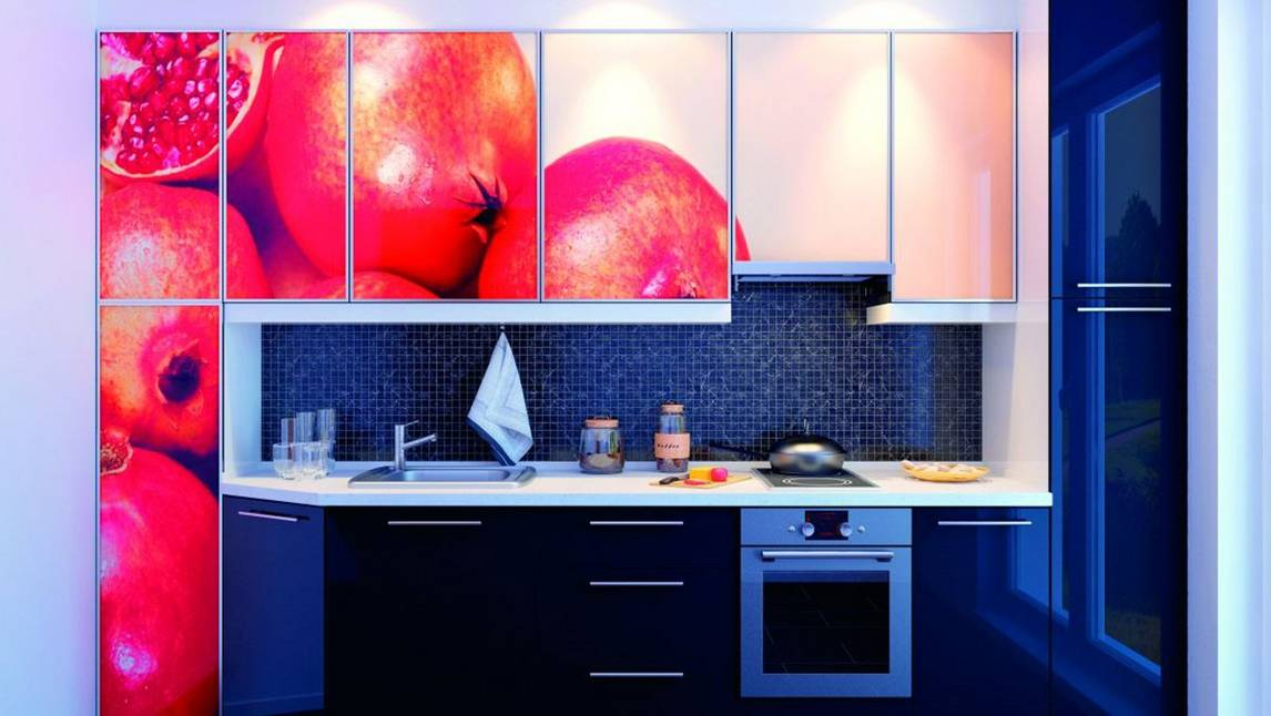 Digitally printed kitchen units
