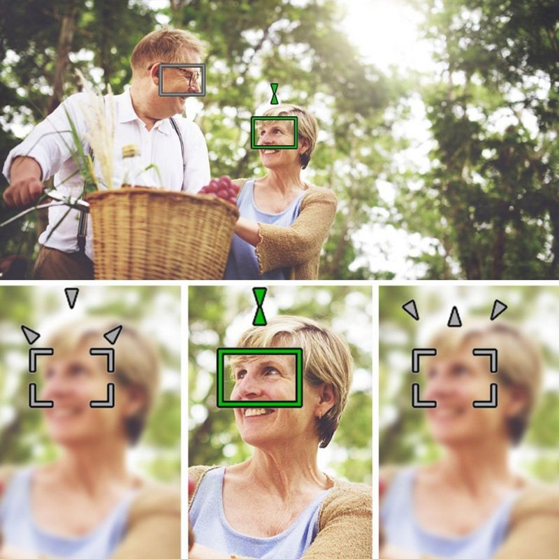 photo of man on bike with woman showing face detection feature of video