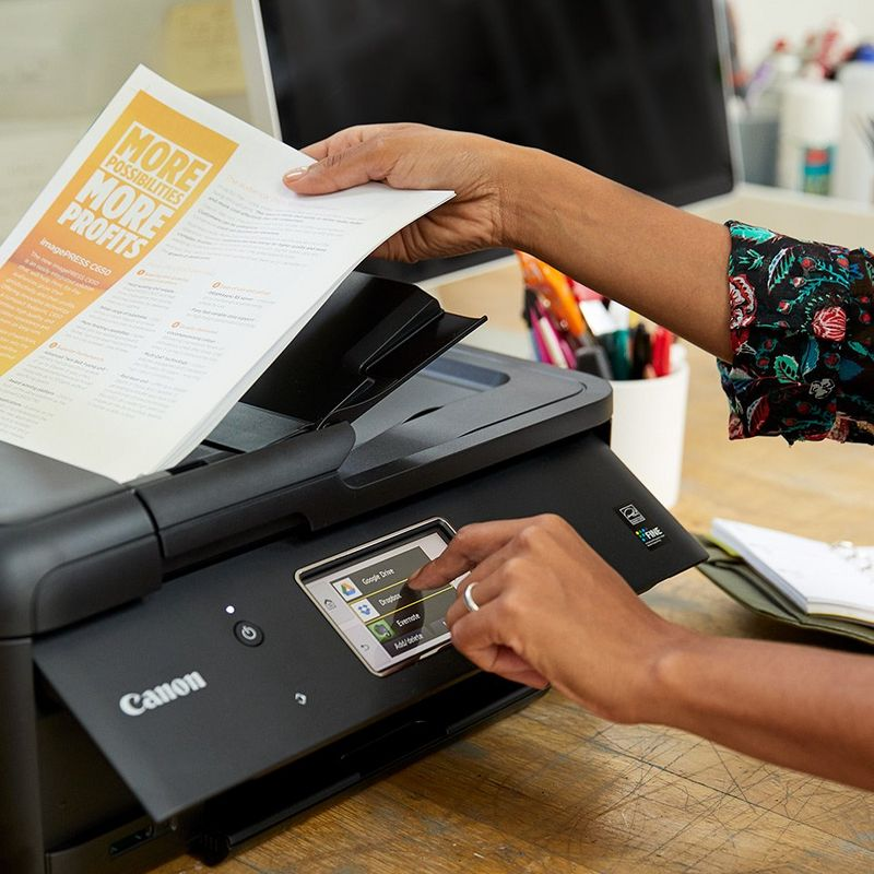 The PIXMA Cloud Link lets you print business document in seconds from cloud storage like Dropbox or Google Drive.
