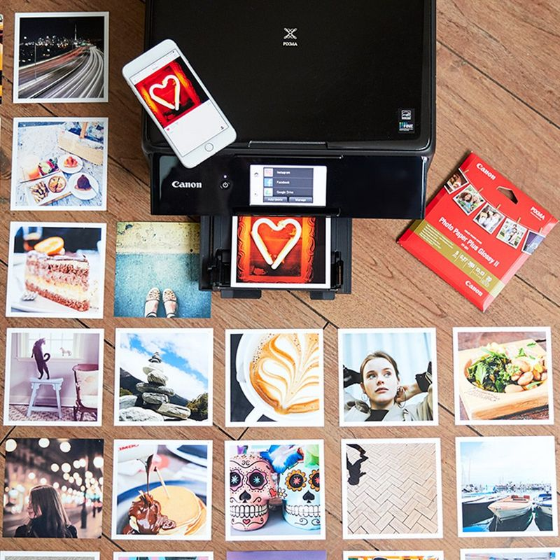 PIXMA Cloud link lets you print photos and documents in seconds from social media and cloud storage.