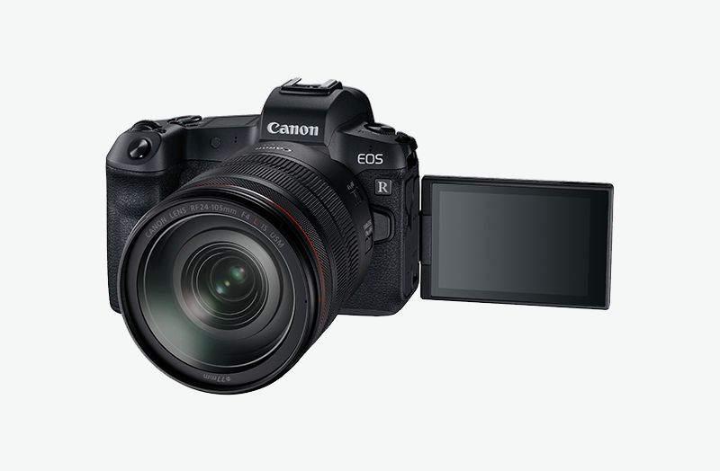 EOS R video side shot