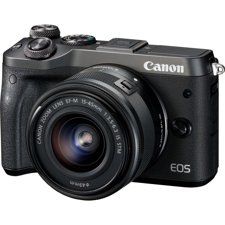 Buy Canon Eos M6 Ef M 15 45 Mm Is Stm Black In Wi Fi Cameras 22mm F 20 Magnify Image