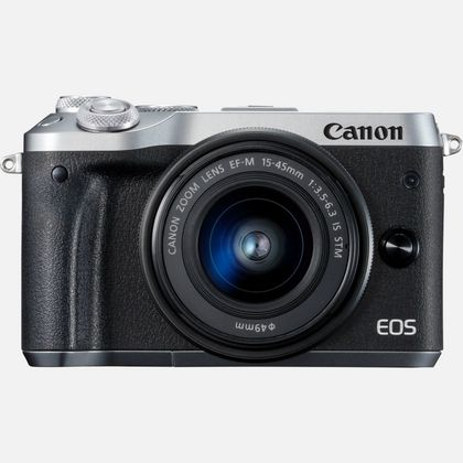 Canon EOS M6 + objectif EF-M 15-45mm IS STM argent