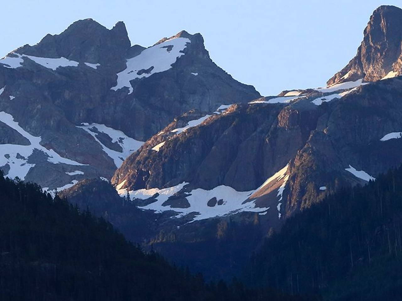 Landscape mountain range