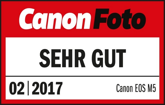 201702 Canon EOS M5 CanonPhoto Sehr Gut