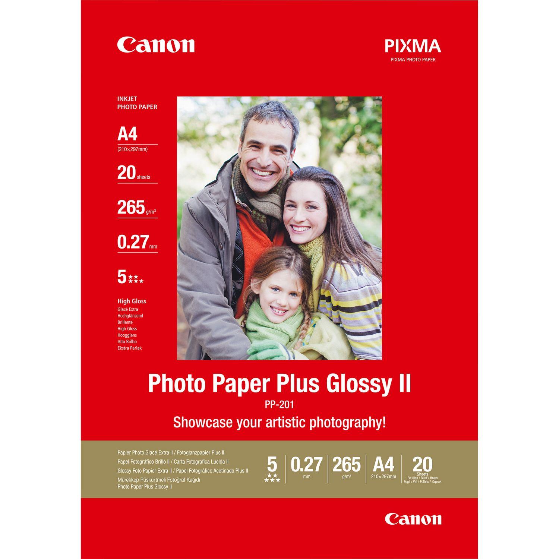 Canon Pp 201 Glossy Ii Photo Paper Plus A4 20 Vel In Fotopapier