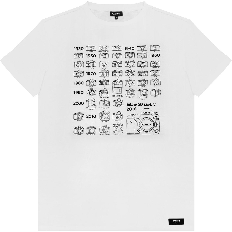 release date: 38081 9279b Canon Herren Kamera-Geschichte T-Shirt, Weiß, XXL — Canon ...