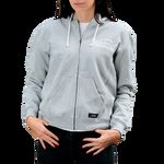 Image of Canon Vintage Logo Women's Zip-up Hoodie, Light Grey, Extra Small