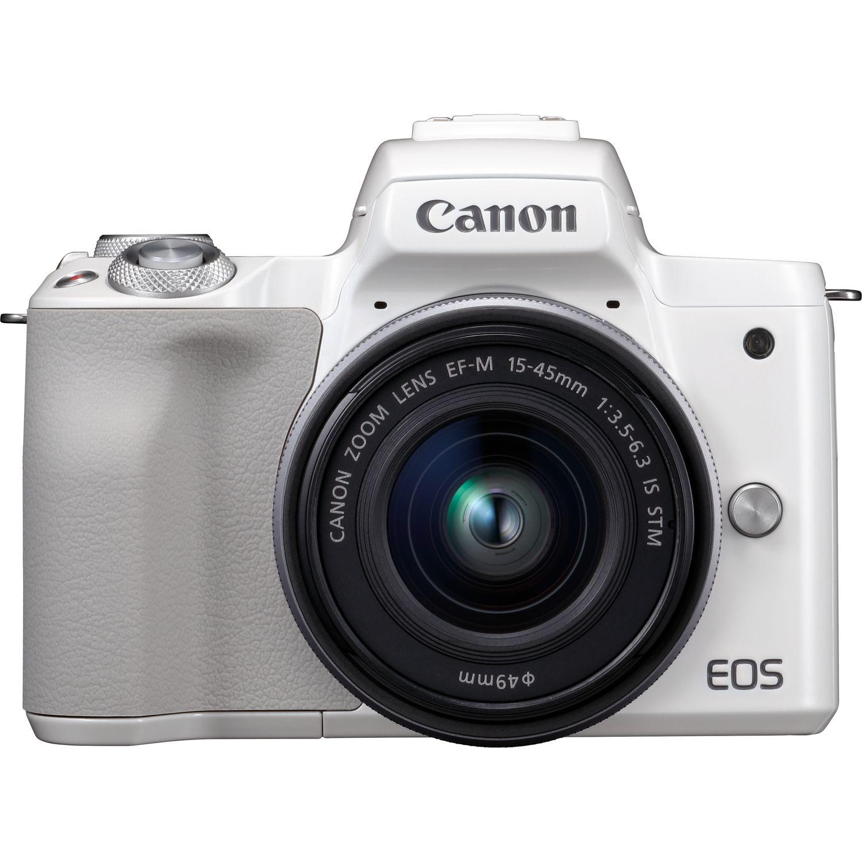 canon eos m50 blanc objectif ef m 15 45mm stm argent dans appareils photo wifi canon france. Black Bedroom Furniture Sets. Home Design Ideas