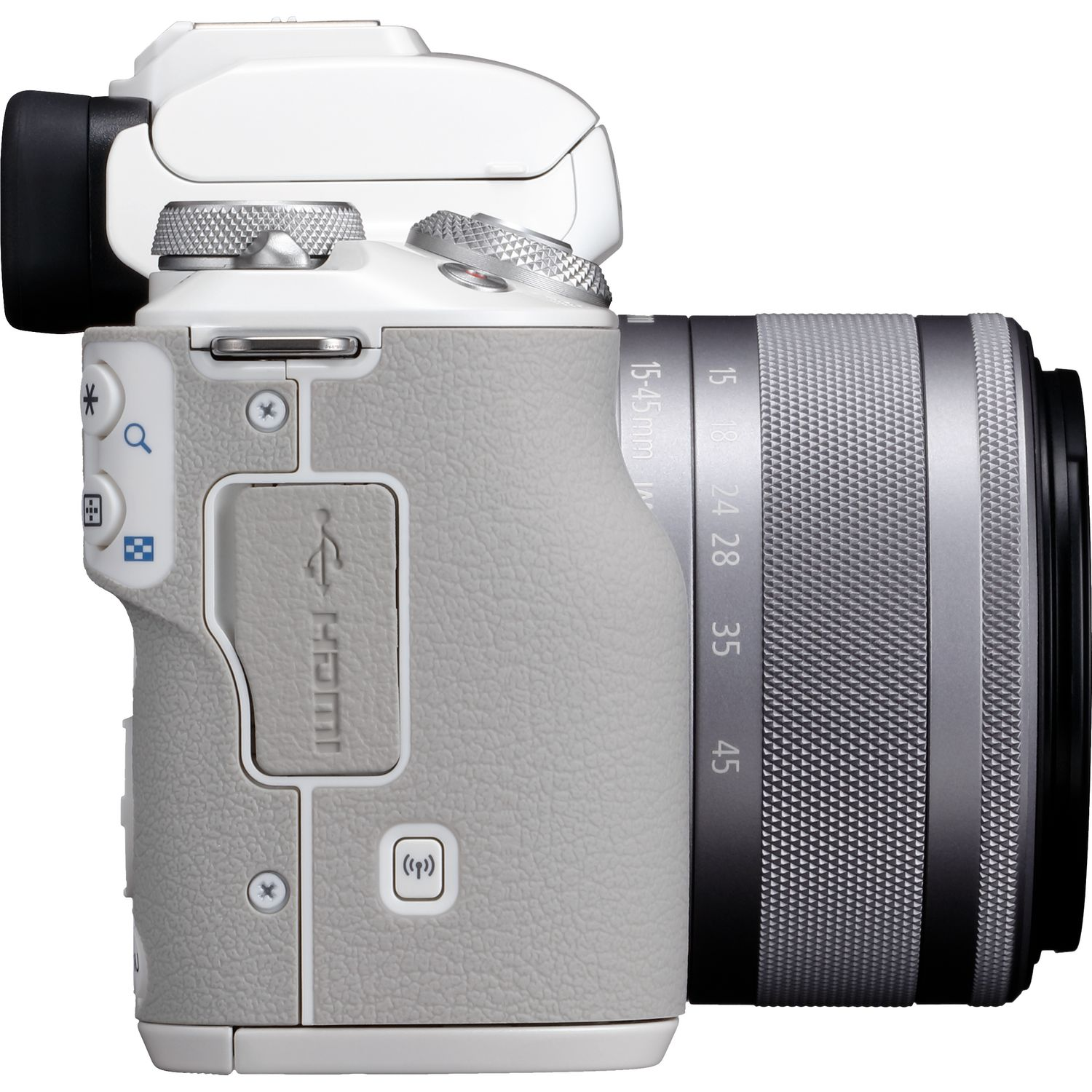 Buy Canon EOS M50 White + EF-M 15-45mm IS STM Lens Silver in