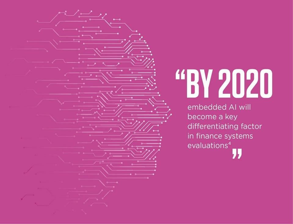 By 2020, embedded AI will become a key differentiating factor in finance systems evaluations