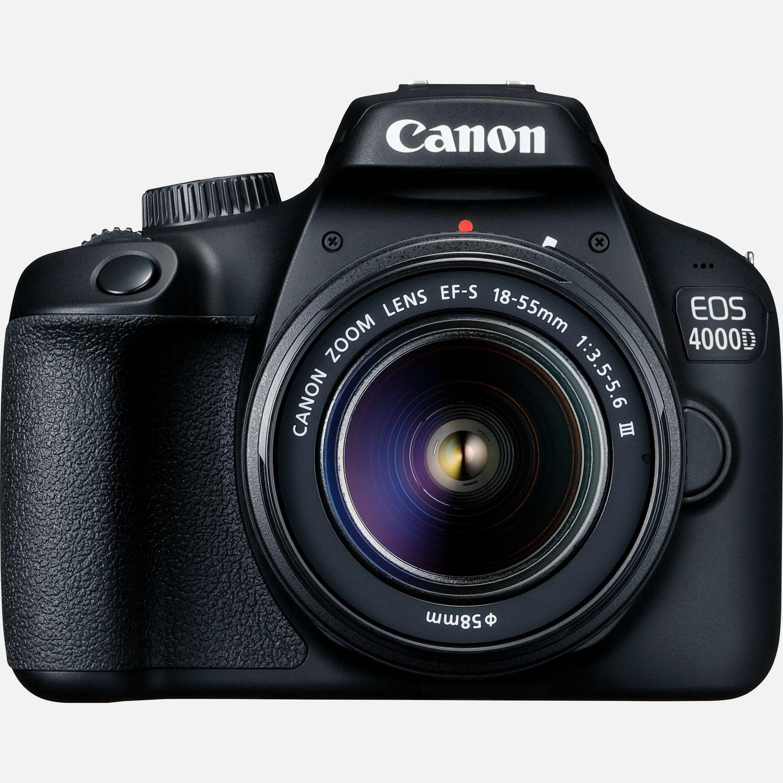Canon EOS 4000D Gehäuse + EF-S 18-55mm III Objektiv in WLAN-Kameras ...