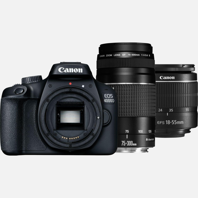 Canon EOS 4000D + EF-S 18-55mm III + EF-S 75-300mm III