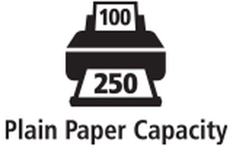 350-sheet capacity
