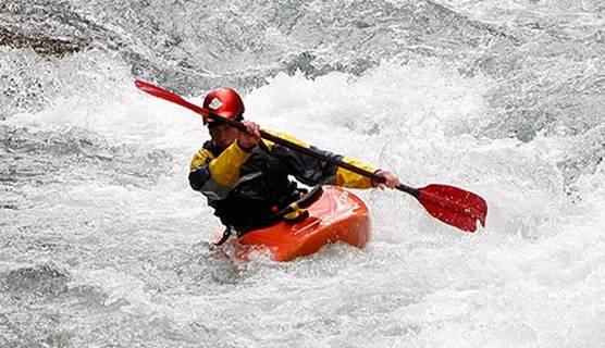 Outdoot sports action kayaking