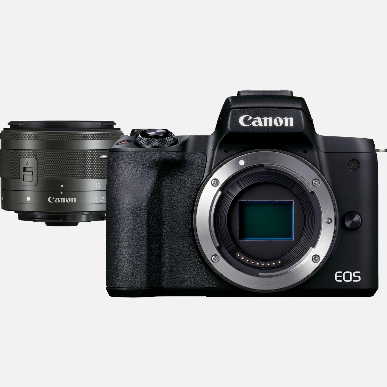 Appareil photo hybride Canon EOS M50 Mark II noir + objectif EF-M 15-45mm f/3.5-6.3 IS STM graphite