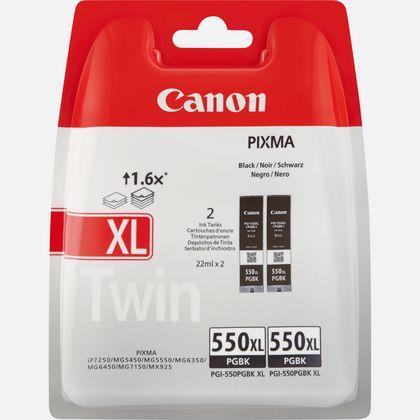 Cartouche d'encre noire Canon PGI-550BK (double pack)