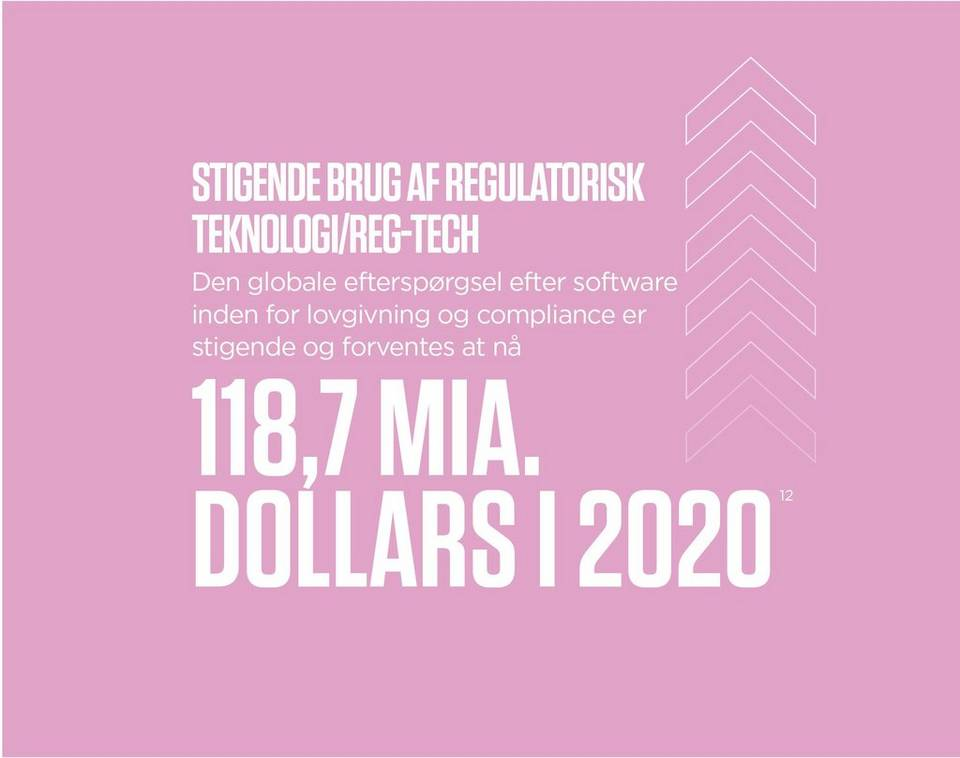 The rise of regtech global demand for regulatory, and compliance software is growing, and is expected to reach 118.7 billion dollars by 2020
