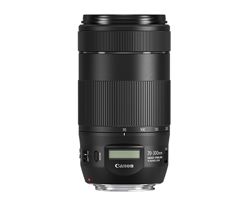 EF 70-300mm f/4-5.6 IS II USM pack shot straight on