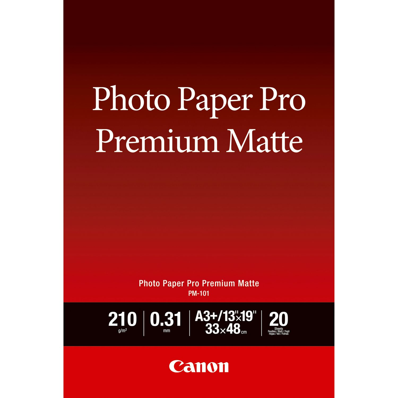 papier photo a3 premium mat canon pm 101 20 feuilles. Black Bedroom Furniture Sets. Home Design Ideas