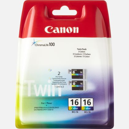 Cartouche d'encre couleur Canon BCI-16 C/M/Y (lot de deux cartouches)