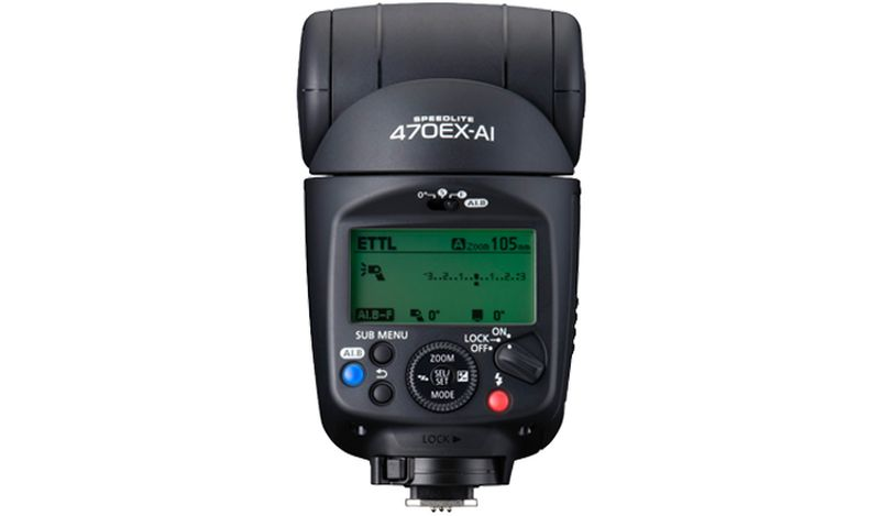 Canon Speedlite 470EX-AI – back facing