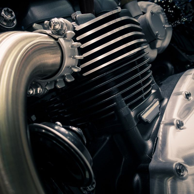 Close up of engine