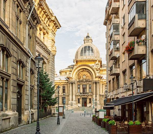 Beautiful buildings in Bucharest City