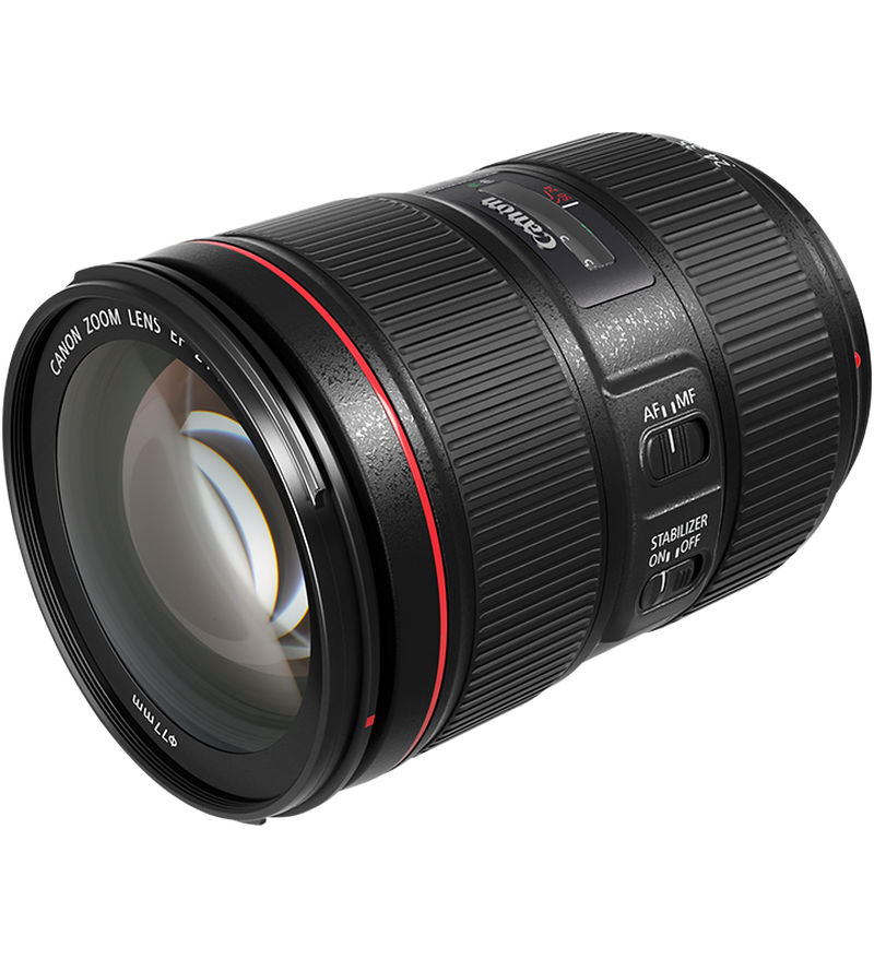 Canon EF 24-105mm f/4L IS II USM side view with no hood