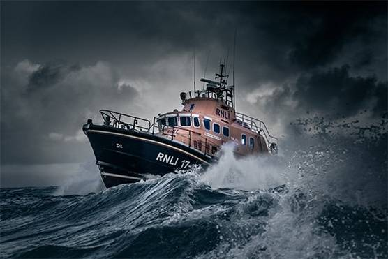 Ballet of the elements: Clive Booth's photographs of lifeboats in action