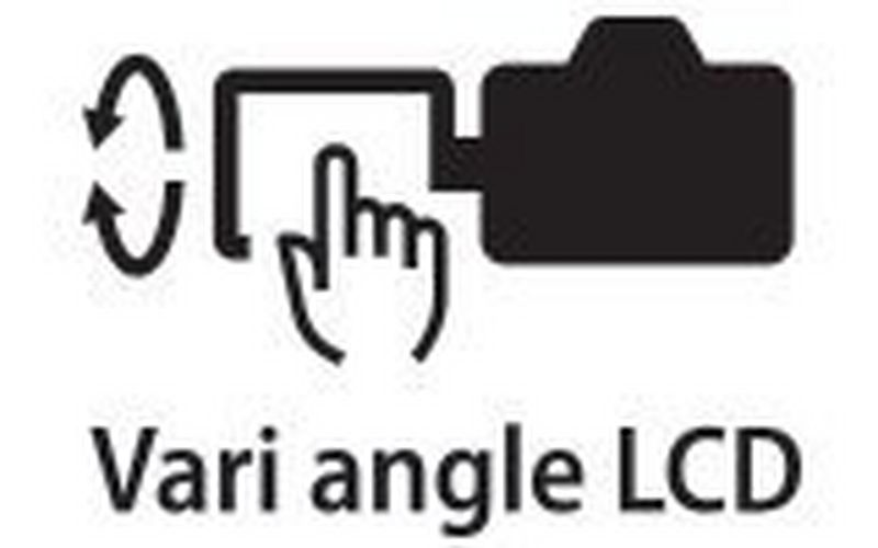 Canon EOS Ra vari angle touchscreen icon