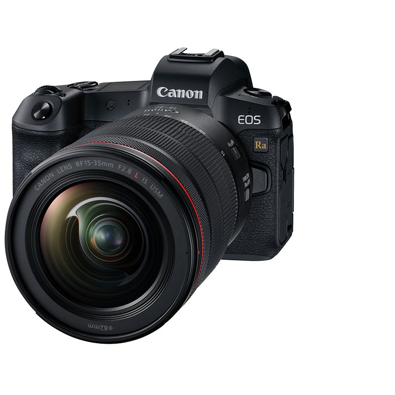 Product shot of EOS Ra with 15-35mm lens