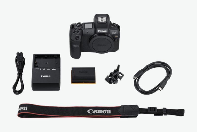 Canon EOS Ra what's in the box flat lay
