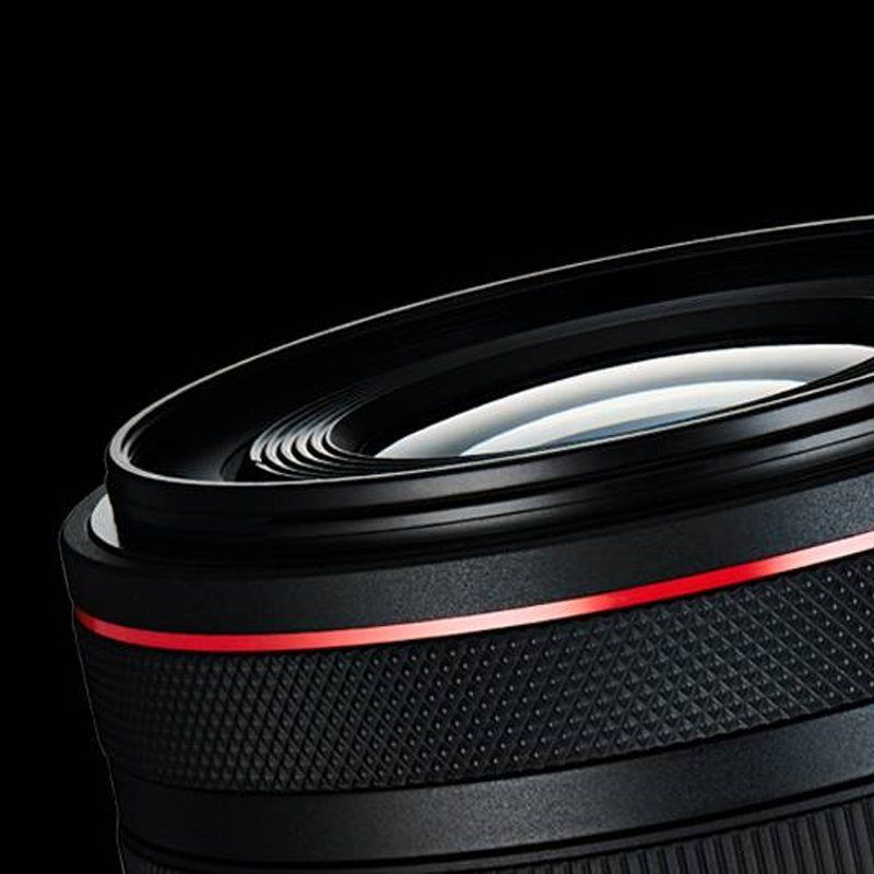 Canon lens with red ring