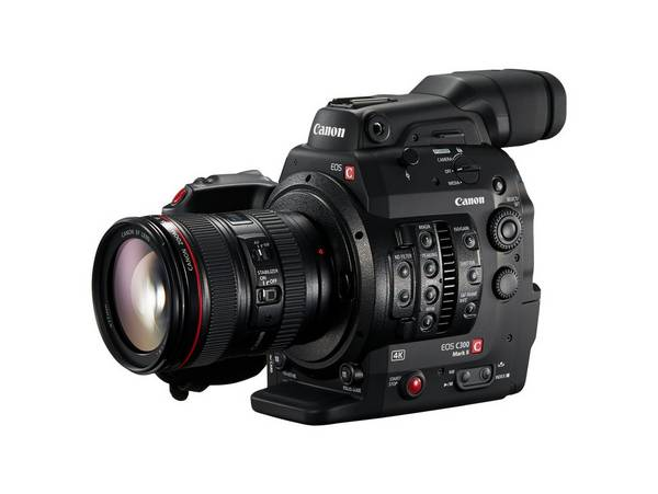 A Canon EOS C300 Mark II with a Canon EF 24-105mm f/4L IS II USM lens.