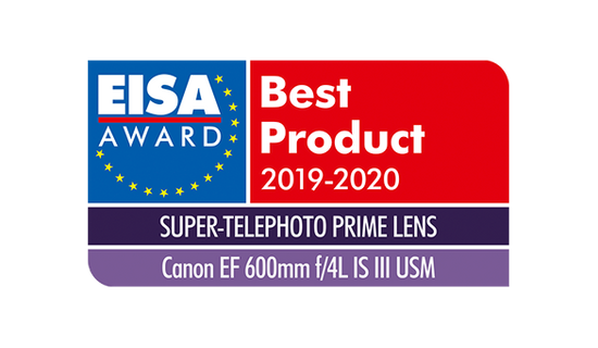 EISA Award Canon EF 600mm f4L IS III USM