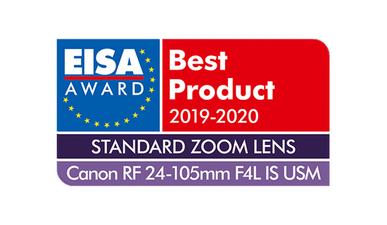 EISA Award Canon RF 24-105mm F4L IS USM