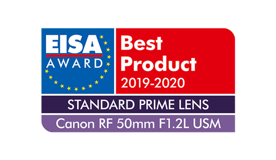 EISA Award Canon RF 50mm F1.2L US