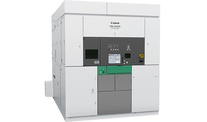 Full view of i-Line lithography machine Canon FPA-5510iX
