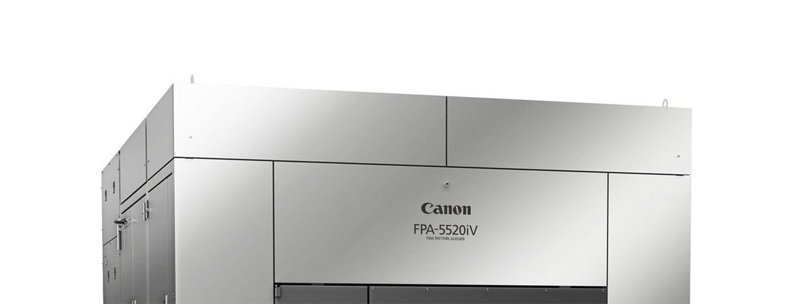 Cropped front view of i-Line lithography model Canon FPA-5520iV FPA