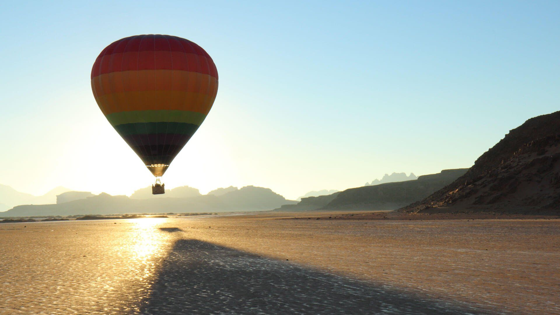 Hot Air Balloon On The Beach